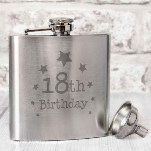 18th Birthday Hip Flask